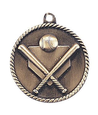 Baseball High Relief Medal