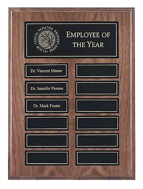 12 Plate Recognition Pocket Perpetual Plaque