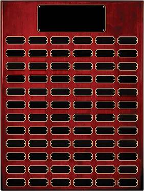 72 Plate Rosewood Piano Finish Perquetual Plaque