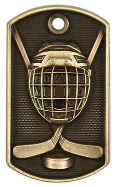 Hockey 3-D Dog Tag - DT206