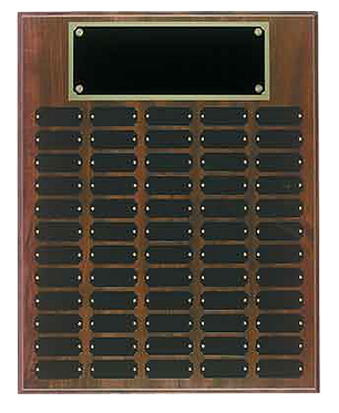 60 Plate Cherry Finish Perpetual Plaque