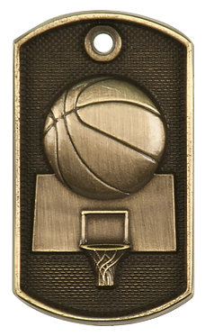 Basketball 3-D Dog Tags - DT202