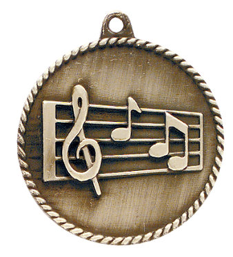 Music High Relief Medal