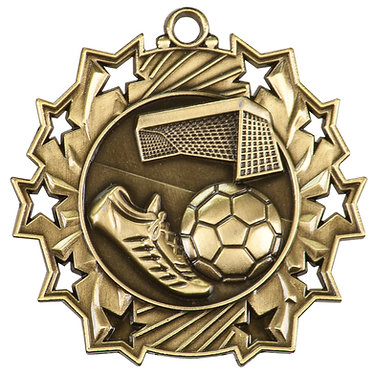 Soccer Ten Star Medal