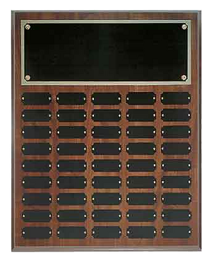 45 Plate Cherry Finish Perpetual Plaque
