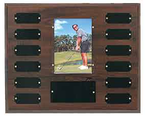 Completed Cherry Finish Perpetual Plaque w/Photo