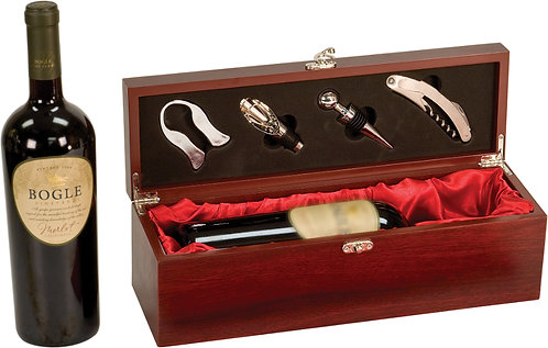 Rosewood Finish Wine Set