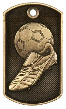 Soccer 3-D Dog Tag - DT211