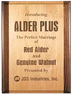 "9"" x 12"" Genuine Red Alder & Genuine Walnut Plaque"