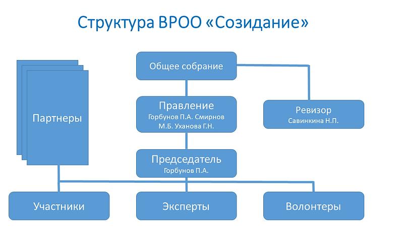 "Структура ВРОО ""Созидание"""