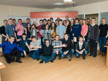 Образовательная сессия для начинающих технологических предпринимателей Junior Startup Weekend состои