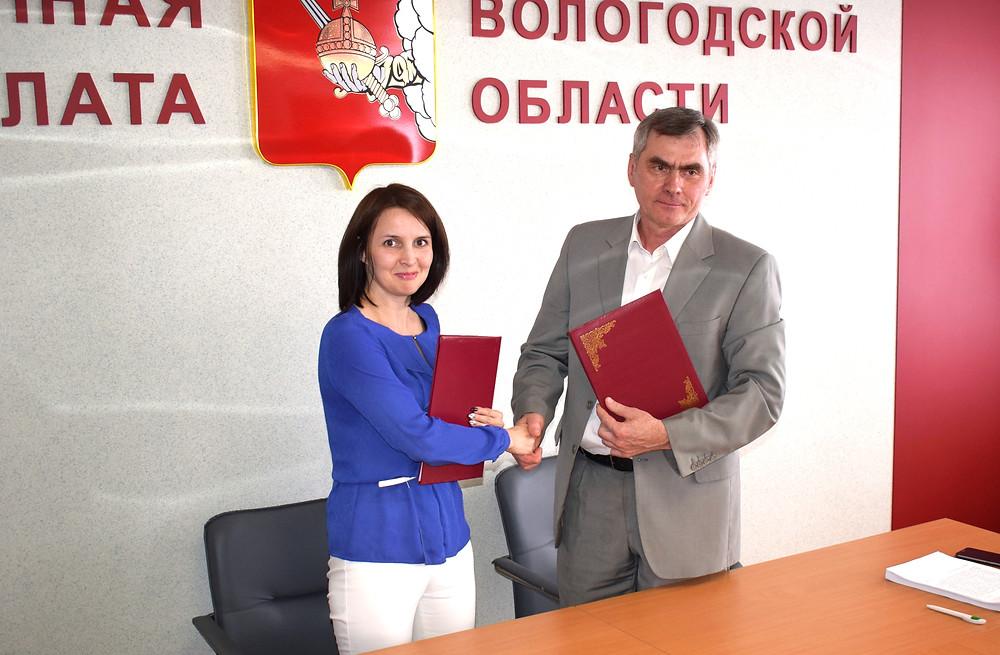 Подписание соглашения с Молодежным парламентом Вологодской области