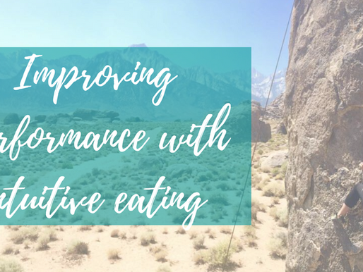 Improving Performance with Intuitive Eating