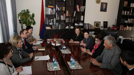 Meeting at the Ministry of Culture of Armenia