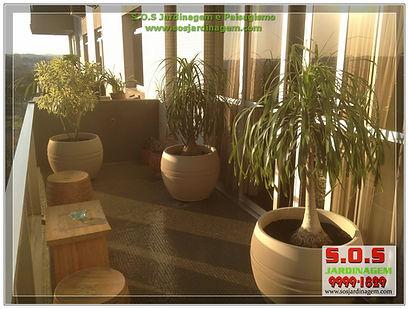 S.o.s Jardinagem e paisagimo, serviços de manutençao e projetos em sacada feito pela s.o.s jardinam