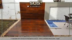 Deck e Painel de Madeira rustico