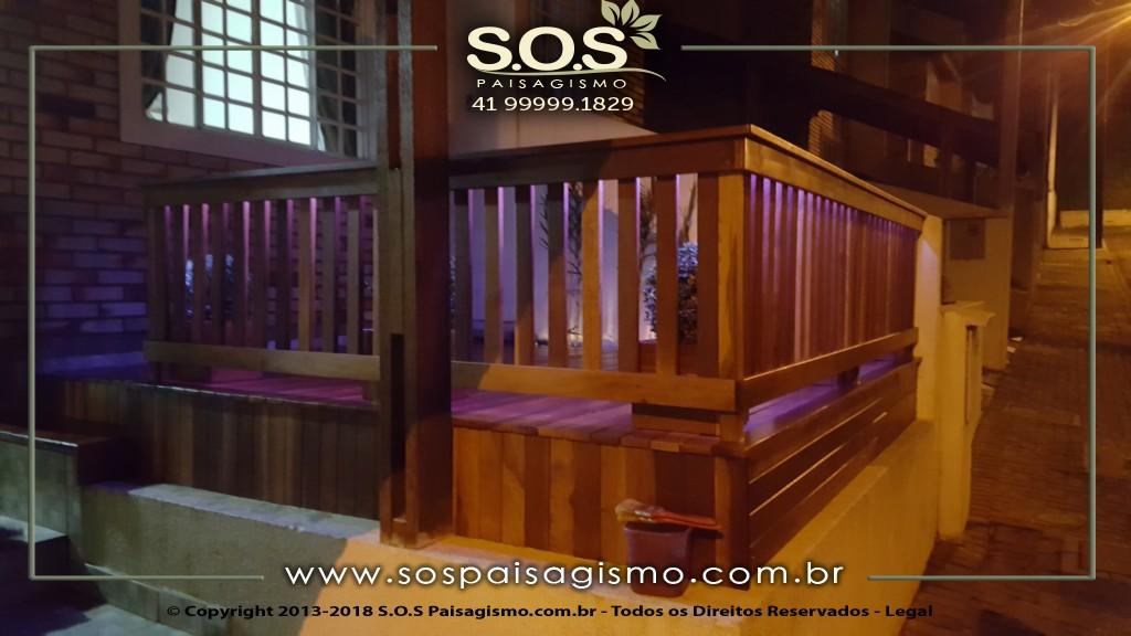 Deck com Fita Led em Curitiba