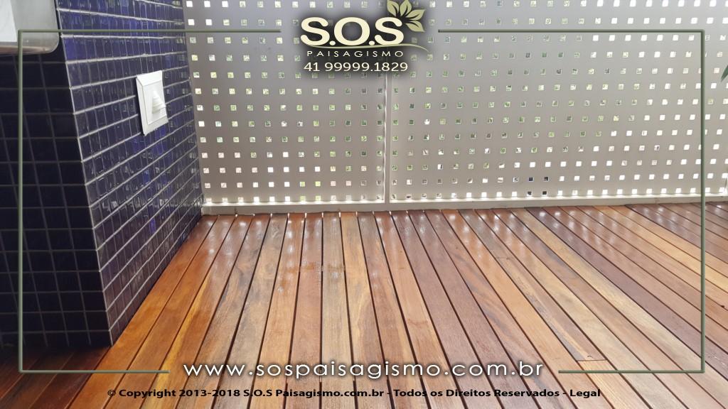 Deck em Sacada em Curitiba