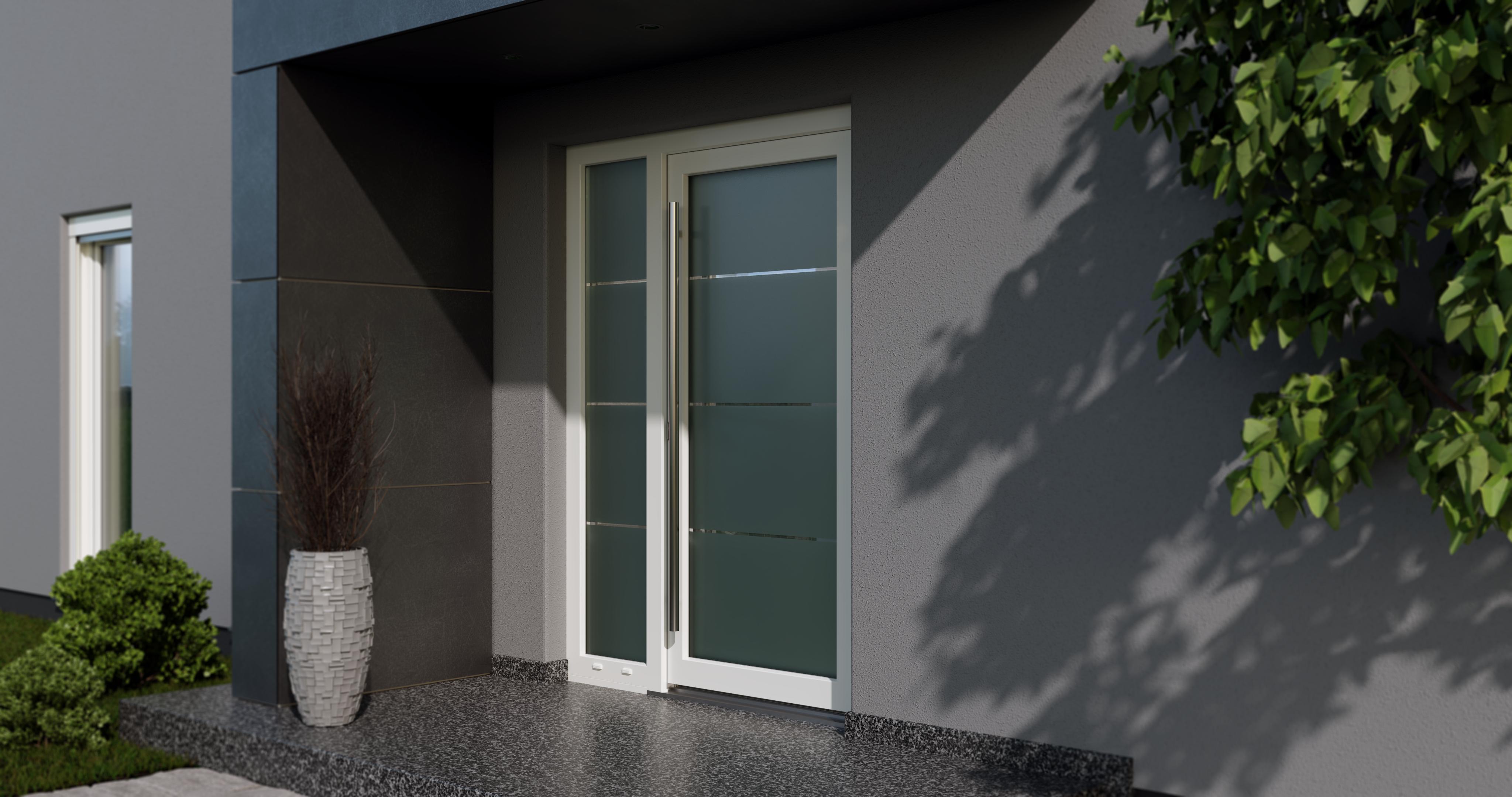 Blaurock uPVC Door white glass