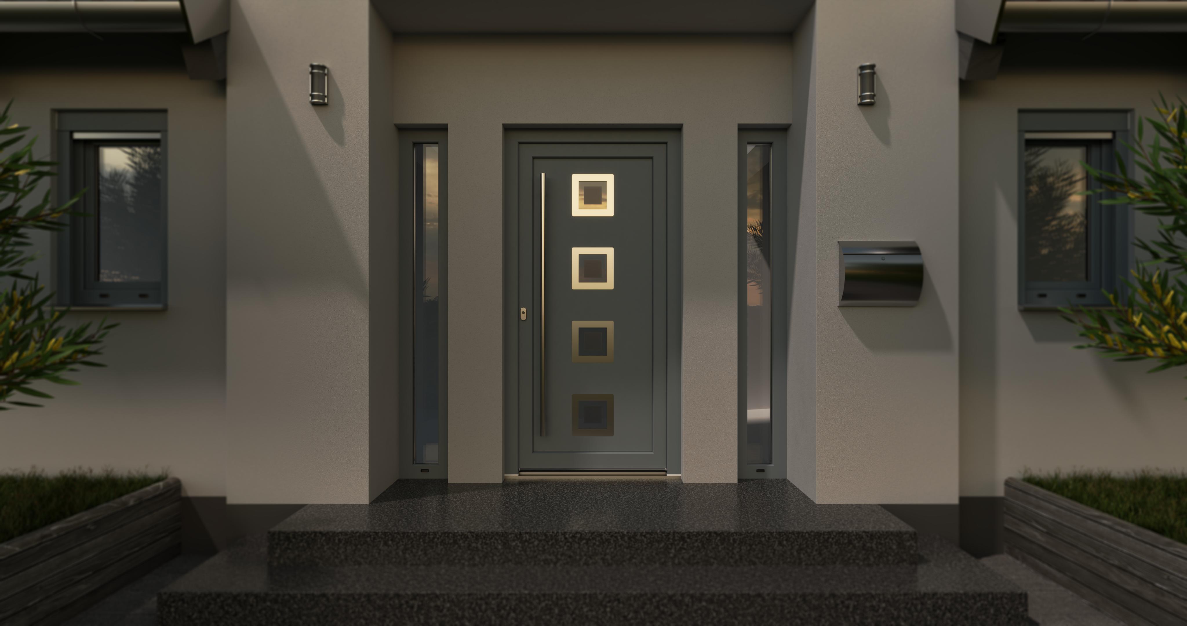 Blaurock uPVC Door modern light grey