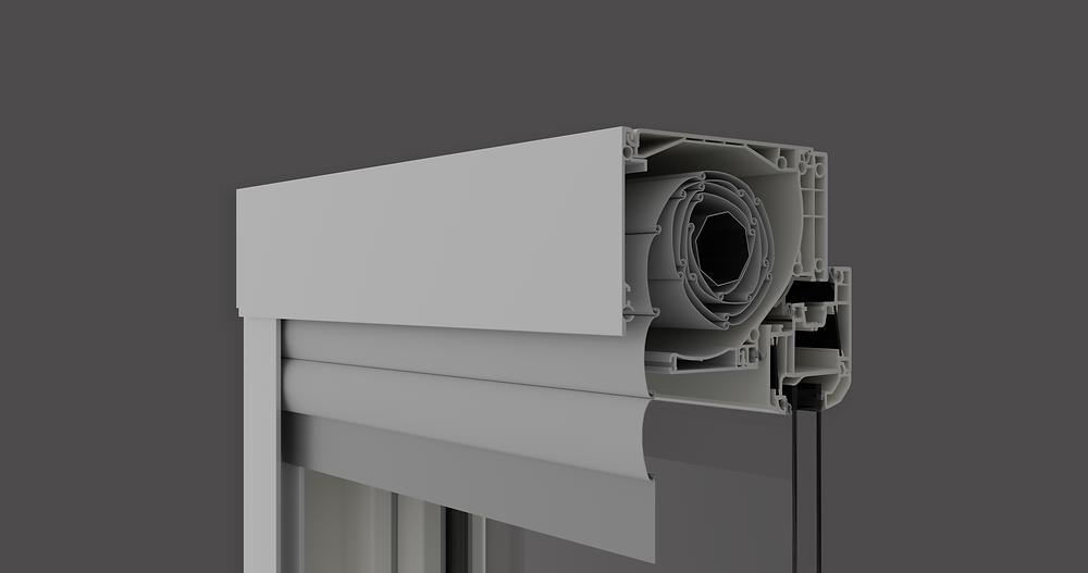 Blaurock International uPVC Window integrated roller shutter