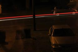 The Car lights trail