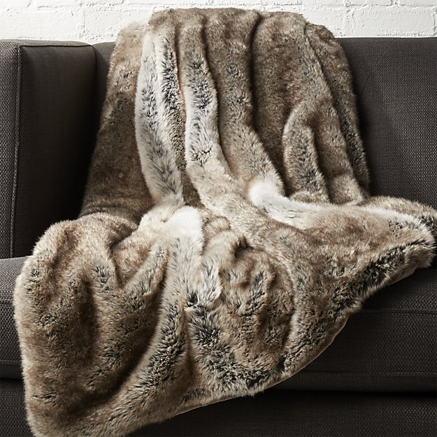 CB2 Faux fur throw