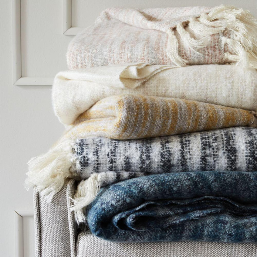 West Elm coziest throws