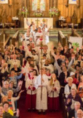 waving congregation