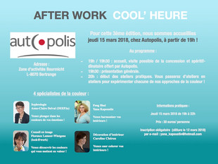 Afterwork Cool'Heure le 15 mars