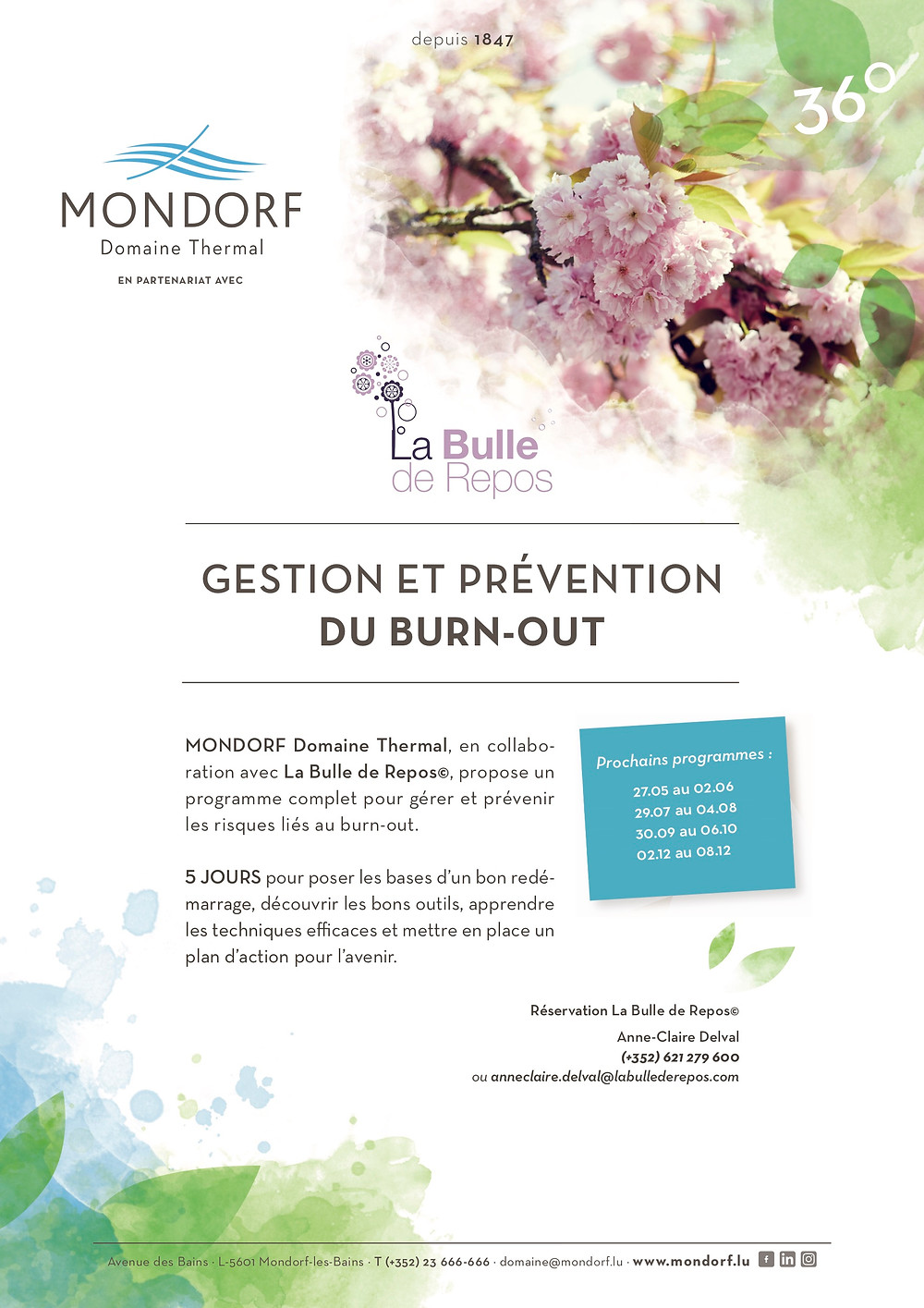 Bulle de repos burn-out Mondorf