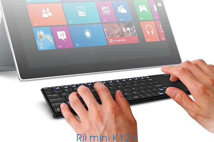 Rii mini i12 Wireless Mini Keyboard with Touchpad Eng/Heb