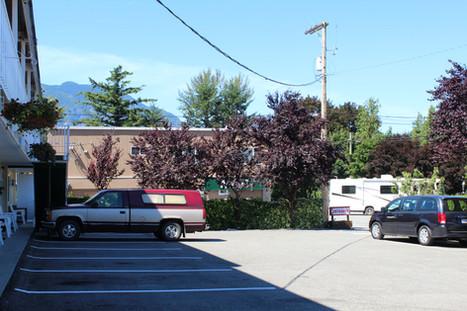 Our parking lot