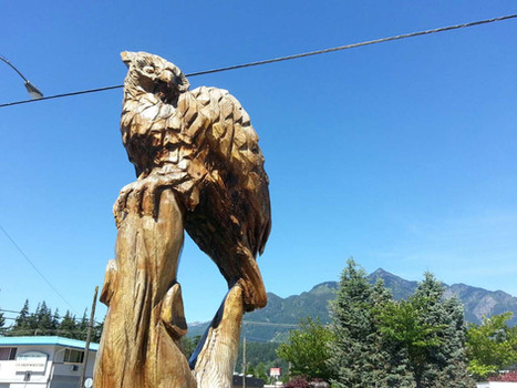 Our eagle sculpture