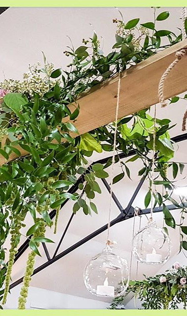 Suspended and decorated, creating height to any venue.