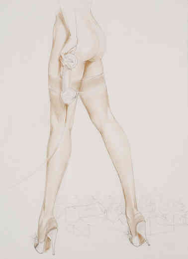 Alberto Vargas - Nylon Stockings Prelim. drawing