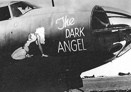 The Dark Angel plane with pinup art