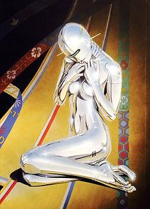 Hajime Sorayama Sexy Robot 1982 Acrylic on board