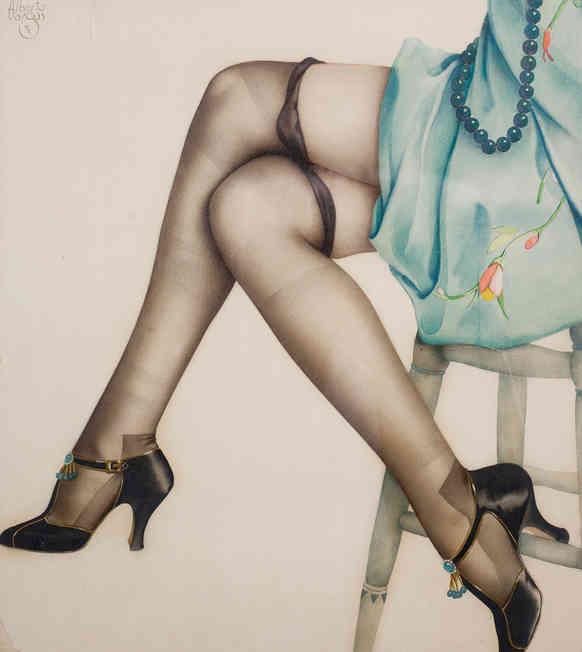 Alberto Vargas - Black Stockings