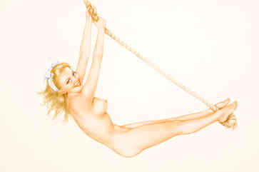 Alberto Vargas - Pin-Up on Rope