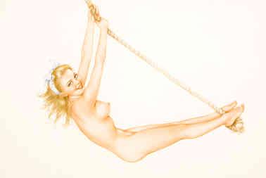 Alberto Vargas - Pin-Up on Rope