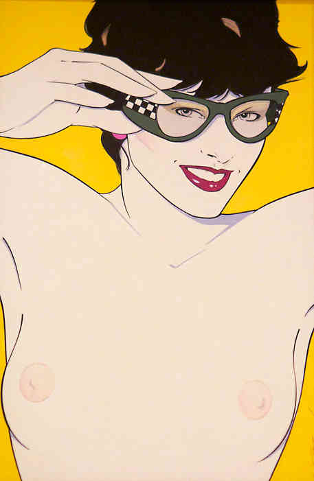 Patrick Nagel - Nude with Sunglasses
