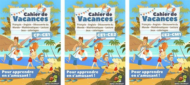 Accès libres à des cahiers de vacances de la maternelle au CM2