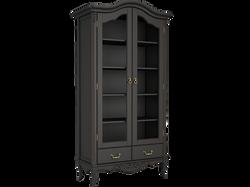 Шкаф 2 книжный черный