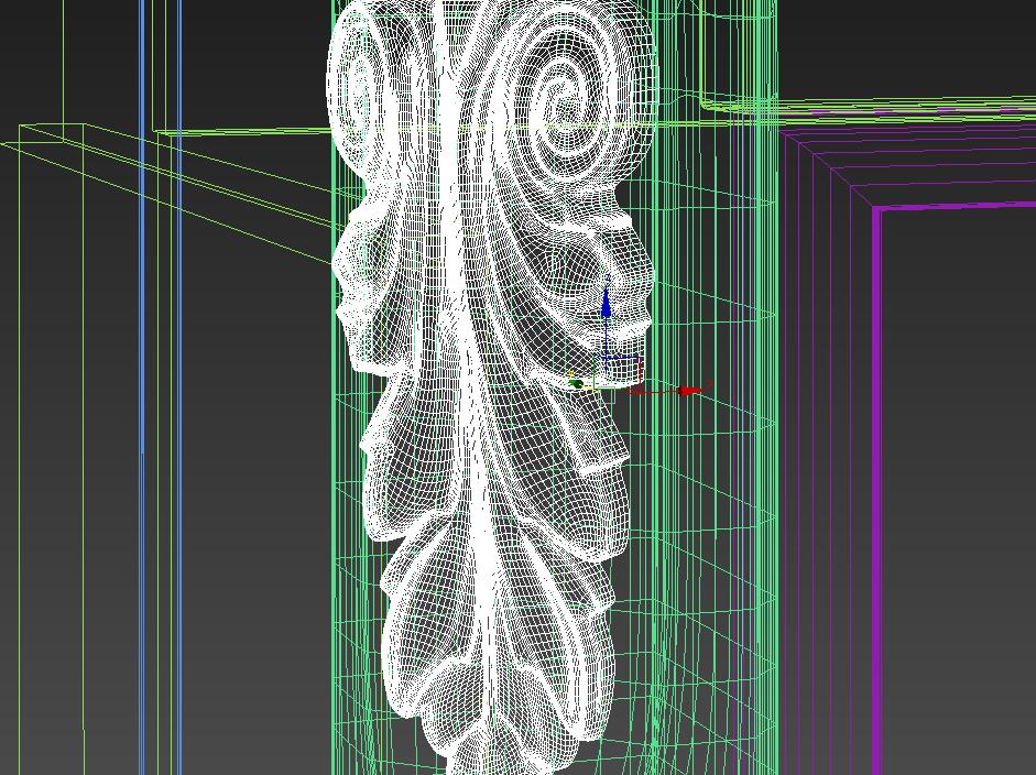Элемент резьбы сетка детали