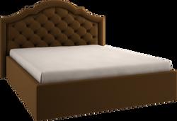 Кровать мягкая фигурная стеганка энигма