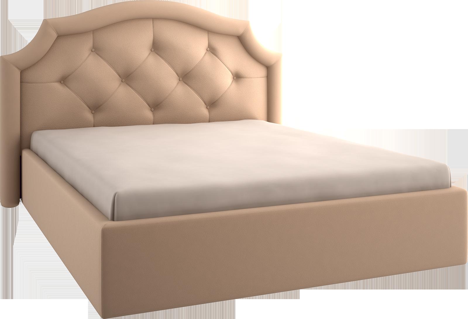 Кровать 2 м фигурная крупная стежка 04