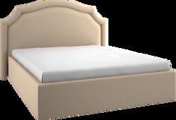 Кровать мягкая фигурная 2м прямая 05
