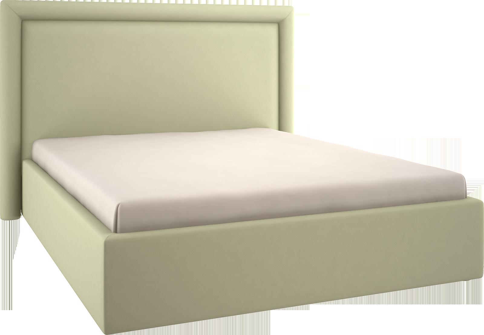 Кровать мягкая прямоугольная прямая стёж