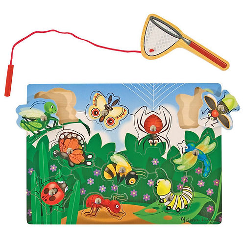 Magnetic Bug Catching Game